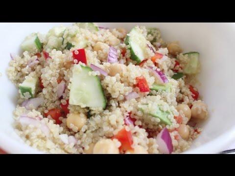 Quinoa Chickpea Salad | Healthy Lunch Recipe