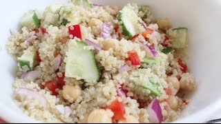 Quinoa Chickpea Salad | Healthy Lunch Recipe