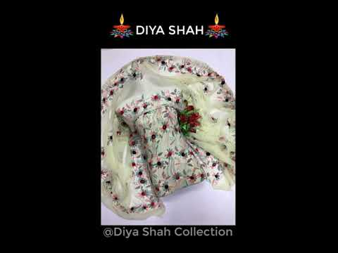 Diya shah Collection Brings Verities of I Embroidery Clothes I Boutiques I Fashion I Flower Style I