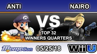Momocon 2018 - IMT | ANTi (Mario,Diddy) Vs. NRG | Nairo (ZSS) Top 32 Winners Quarter