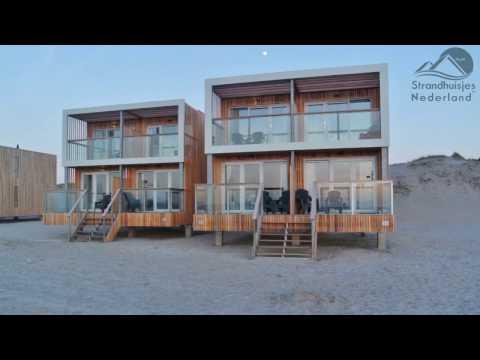 Strandhuisje Hoek van Holland - Van binnen, buiten en boven in 20 seconden.