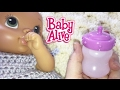 Baby Alive Luv N Snuggle Baby Doll Making Doll Milk Feeding and Changing into Crochet Dress