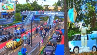 [4K] Autopia Ride with New ASIMO Robots and Scenes Added - Disneyland 2017