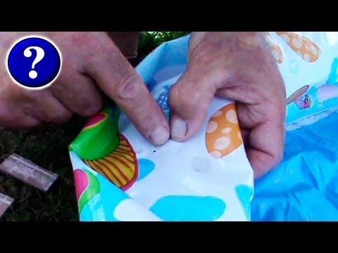 Как заклеить надувной бассейн intex в домашних условиях видео