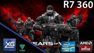 gears of war ultimate edition on amd radeon r7 360 oc 2gb gddr5 i5 6600k oc 4 5ghz windows 10