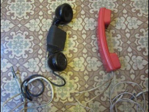 Телефонные трубки для прозвонки кабеля. Устройство, схема и принцип работы