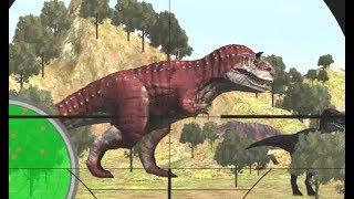 Uso rifle de francotirador para cazar tirano dinosaurios | tirano de dinosaurios juego |de dibujos animados de CA