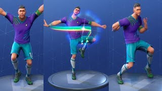 Fortnite MIDFIELD MAESTRO (FORTNITE UNIFORM) Performs All Dances - WORLD CUP FOOTBALL/SOCCER OUTFIT