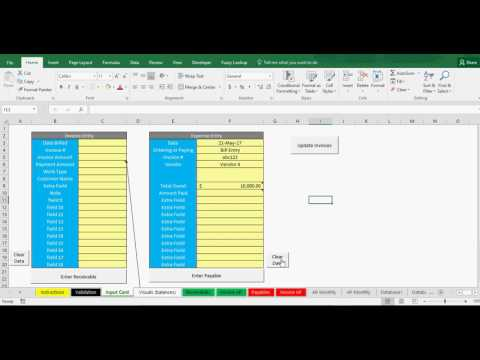 Payable and Receivable Tracking in Excel: Template for Bookeepers