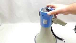 Ручной мегафон РМ-25С обзор
