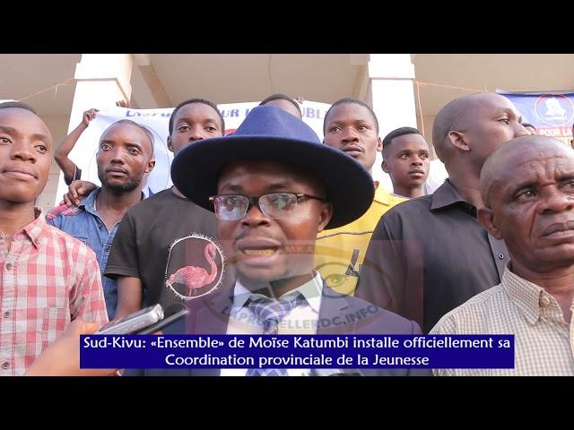 Sud-Kivu: «Ensemble» installe officiellement sa Coordination de la Jeunesse