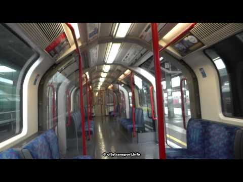 Central Line Train Doors Open One Side Then Other @ Stratford