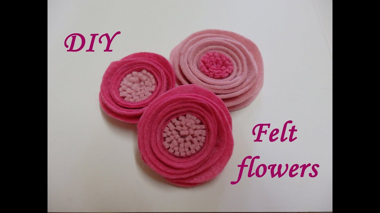 Diy Felt Flowers Tutorial How To Easy Fabric Flowers Felt Roses