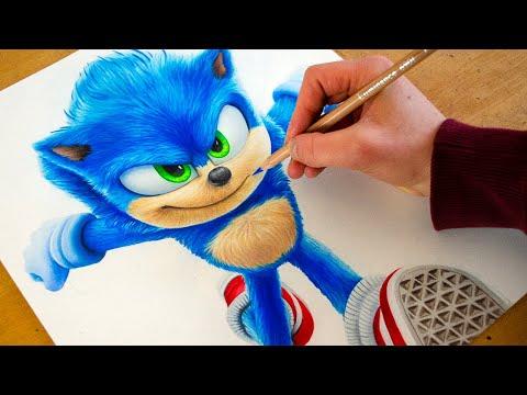 Drawing Sonic The Hedgehog 2020 Nimauke Youtube