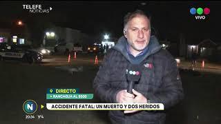 Accidente fatal Se desprendió un trailer y golpeó a tres motociclistas