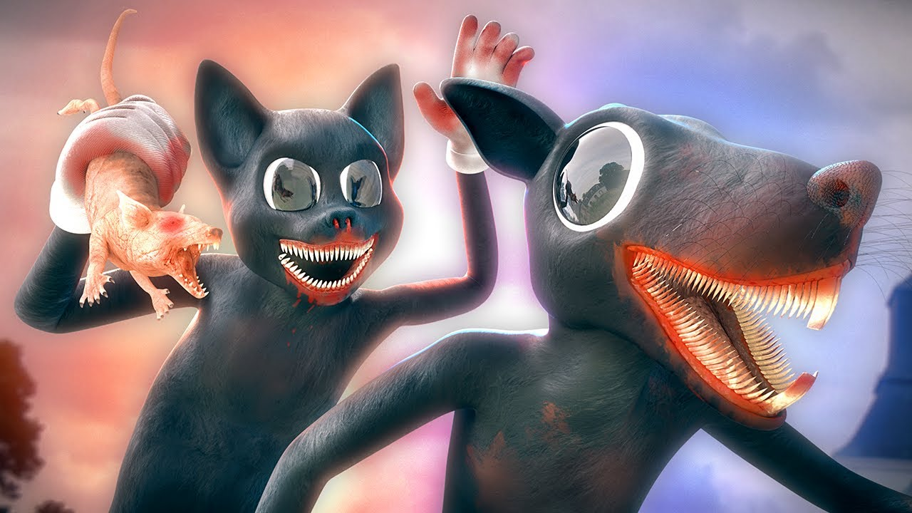 Cartoon Rat vs Cartoon Cat