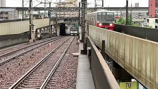 同時入線!鶴舞線N3000形N3109H普通柏森行き上小田井到着