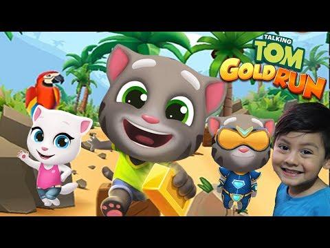 Talking Tom Gold Run   Carrera Hank En Hawaii   Juegos Infantiles Para Niños