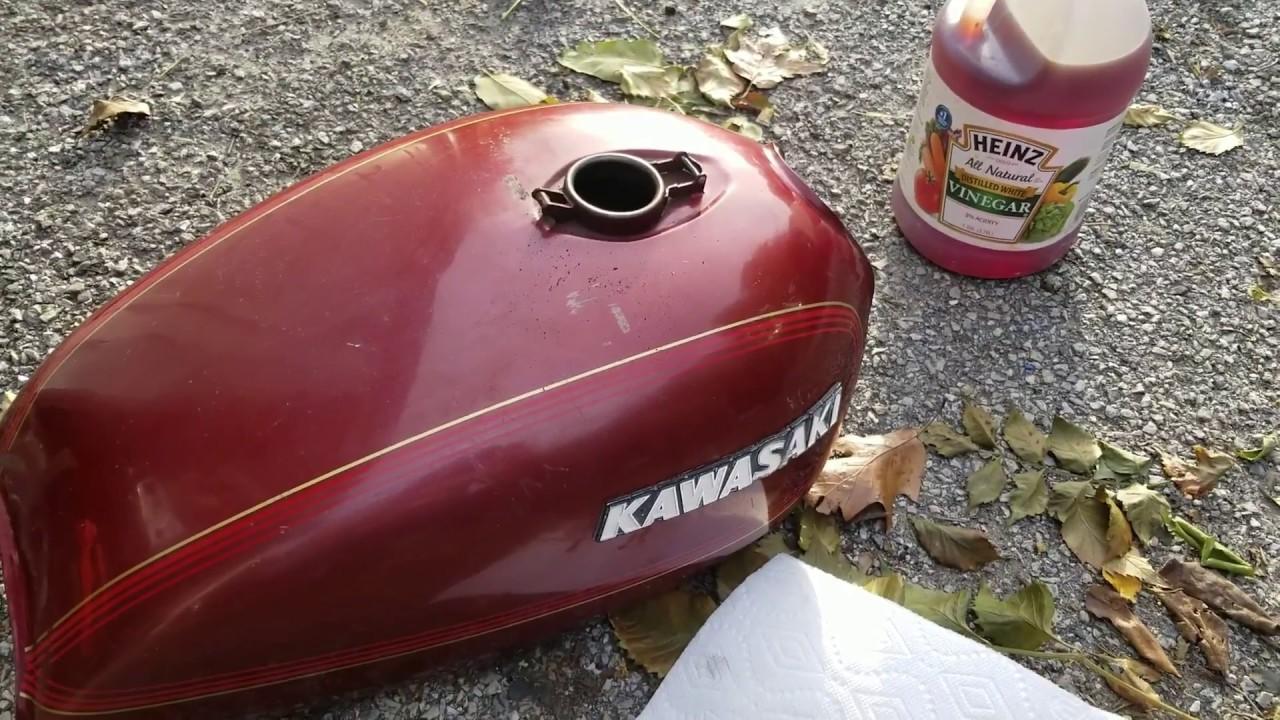 Clean Motorcycle Tank Using Vinegar