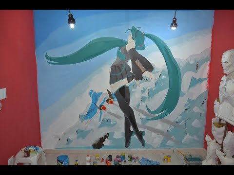 ♪ Light Song ♪ - Hatsune Miku Real scale wall paint
