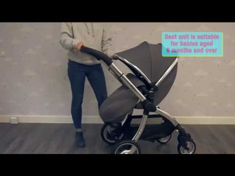 Egg Stroller With Carrycot In Anthracite - Demo From Direct4baby