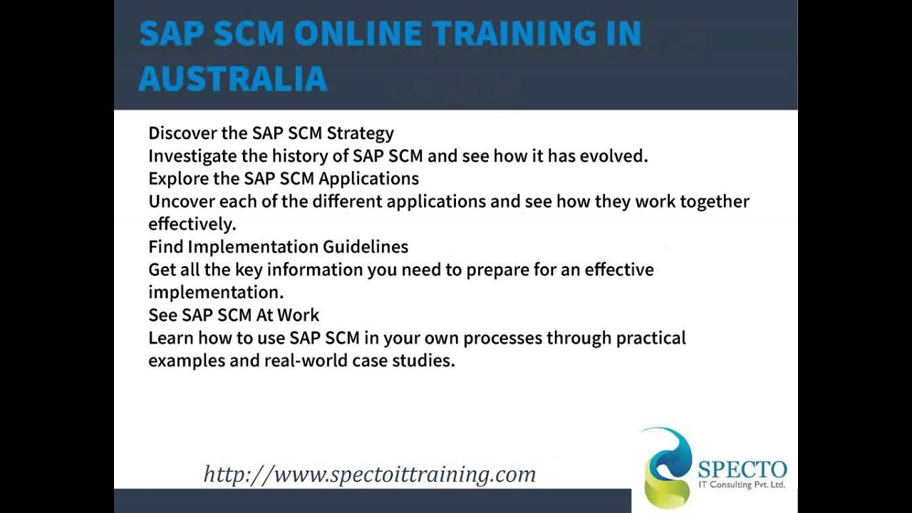 hight resolution of sap scm online training