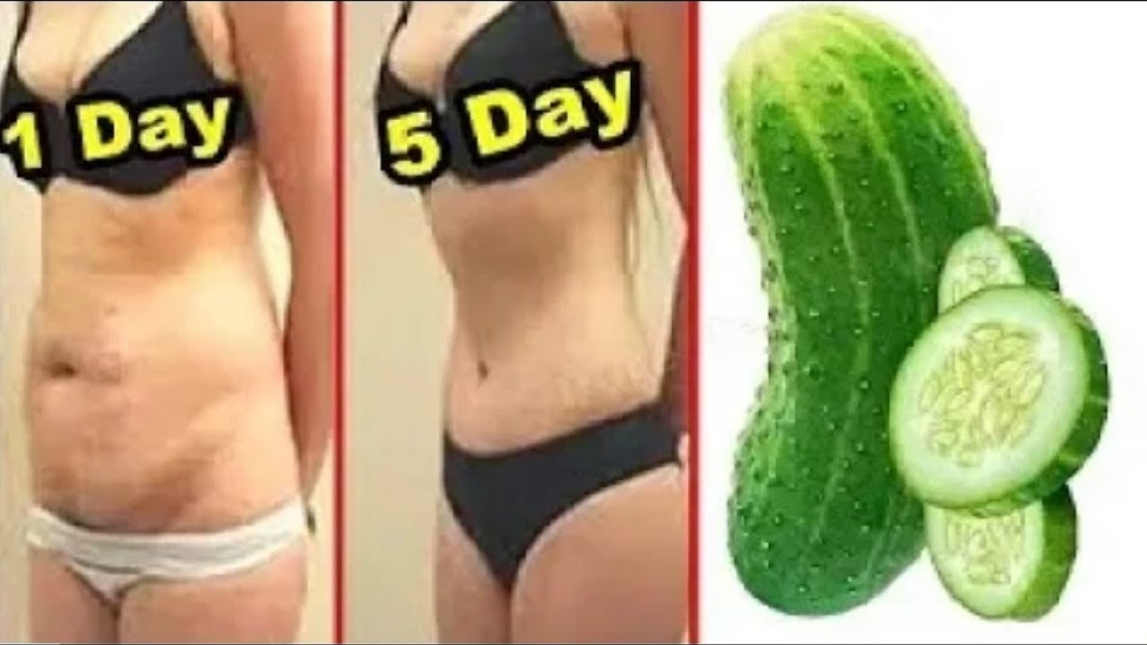 How I Lost Belly Fat In 12 Days With Cucumber : No Strict Diet No