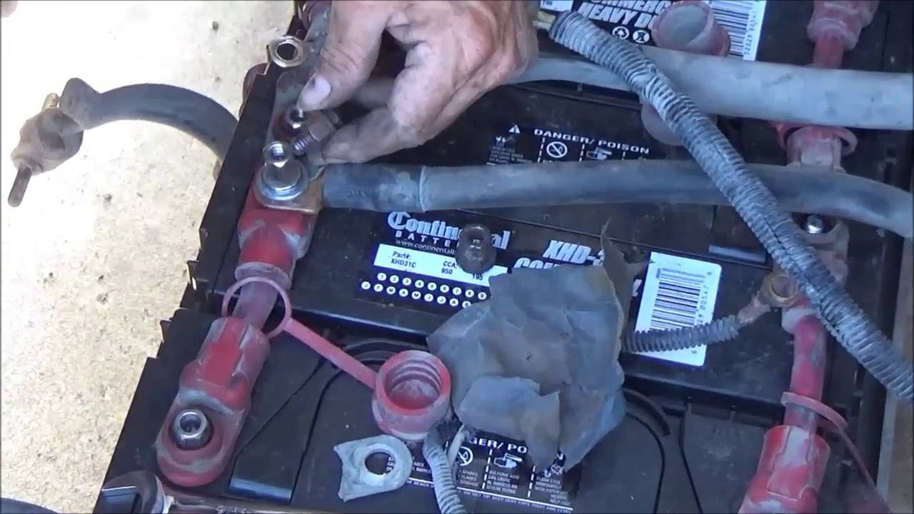 How to test and change big truck batteries  YouTube