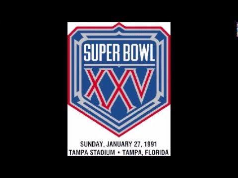 Super Bowl 25 (XXV) - Radio Play-by-Play Coverage - C.B.S. Radio Sports NFL