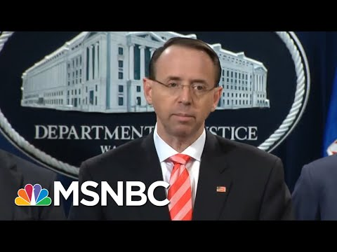 DOJ Gets Wise About GOP Efforts To Tip Off President Trump On Mueller Probe | Rachel Maddow | MSNBC