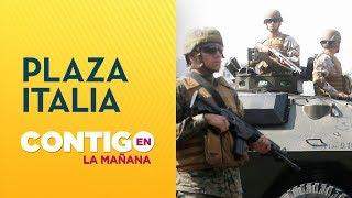 Tanquetas y militares llegaron al centro de Santiago - Contigo en La Mañana