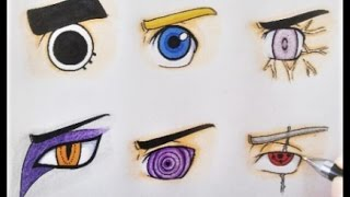 How to draw : Naruto Eyes ( sharingan, byakugan, rinnengan,..) step by step