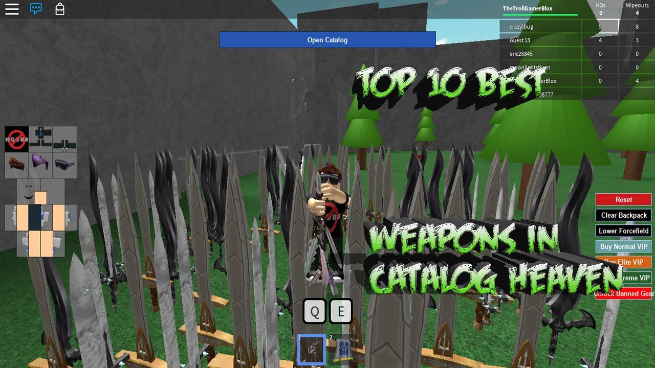 Top Ten Best Weapons in Catalog Heaven Free Download Video
