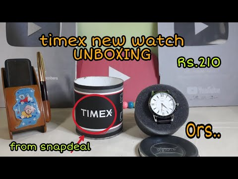 Timex New Watch UNBOXING Cost 0rs From Snapdeal