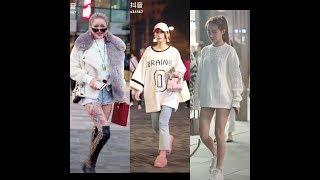 thời trang Mùa Đông xuống phố cực chất của giới trẻ Trung Quốc Street Style