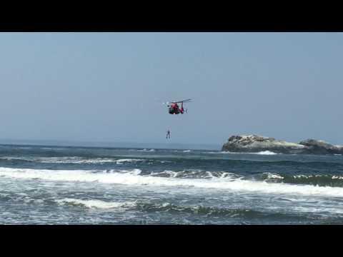 Coast Guard Helicopter at Trinidad