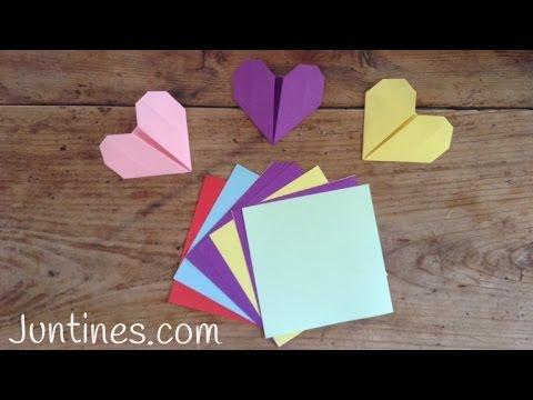 Manualidades para regalar: Corazón de origami