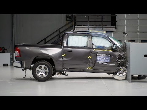 2019 Ram 1500 Passenger-side Small Overlap IIHS Crash Test