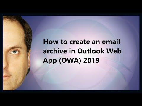 How do i make an archive folder in outlook 2020
