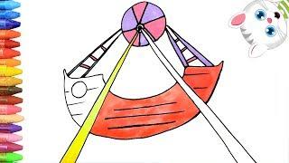 Pagina di colorazione Gondola - Parco Divertimenti   Come disegnare e colora per i bambini