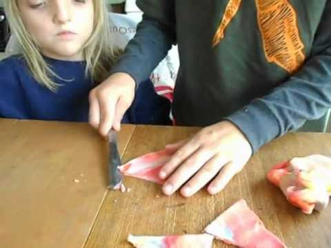 how to make a pyramid out of clay