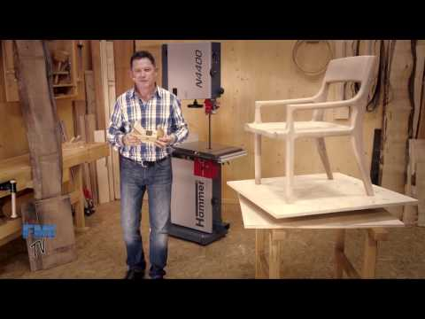 Designer Chair made with the Hammer N4400 Bandsaw