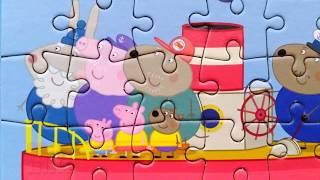 Пеппа и Джордж на Пароходе Собираем Пазлы для детей Свинка Пеппа Peppa Pig