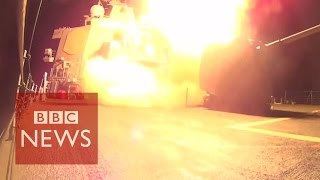 Video shows US missile launches against Islamic State in Syria- BBC News
