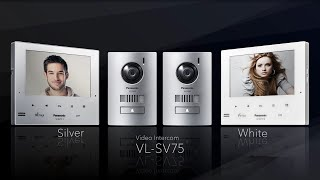 Panasonic VL-SV75AZ-W Video Intercom System White Monitor video