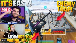 How To Get TRAP ELIMS With ENEMY TRAPS !? ft. CourageJD (Fortnite Battle Royale)