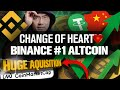 I've Changed My Mind on Binance!! BNB #1 Altcoin!?