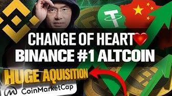 I've Changed My Mind on Binance!! BNB #1 Altcoin!?