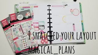 I Snatched Your Layout #8 - Dashboard Layout - Super Mom - Happy Planner Plan With Me