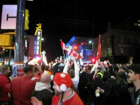 The party in the streets when Canada wins... er... a medal in anything !